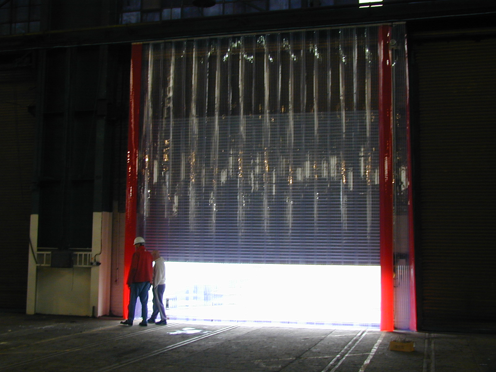 what are standard clear pvc strip curtains