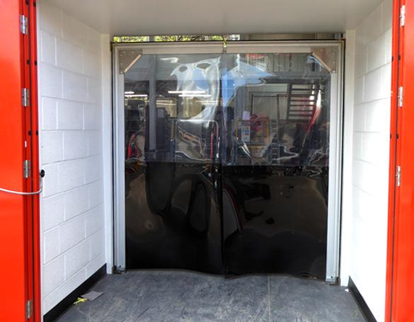 PVC crash doors