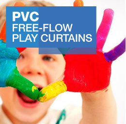 PVC free-flow play curtains