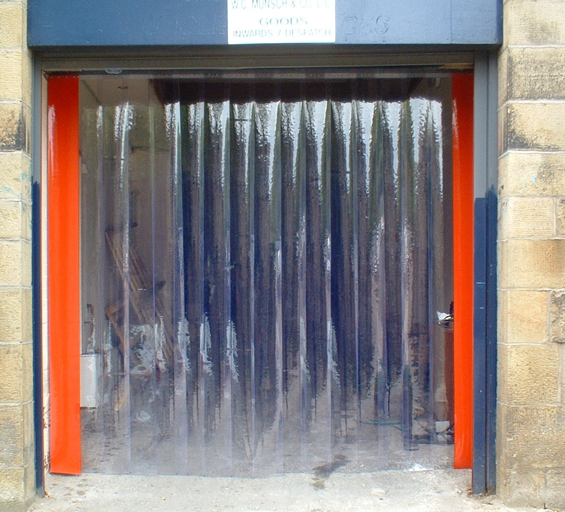 Insulated curtains industrial - Door Plastic Curtains Bestcurtains